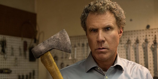 Will Ferrell holding hatchet in The House