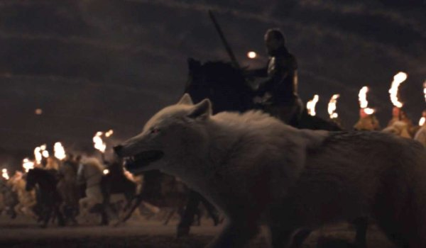 Game of Thrones Ghost ready for battle at Winterfell