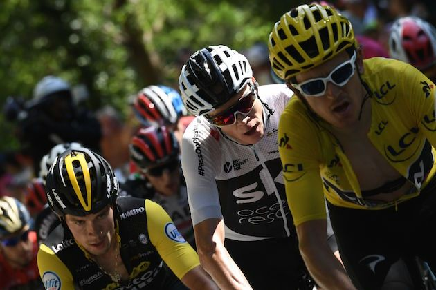 e62dcef16 Chris Froome and Geraint Thomas climb Alpe d Huez on stage 12 of the Tour  de France Credit  JEFF PACHOUD AFP Getty Images