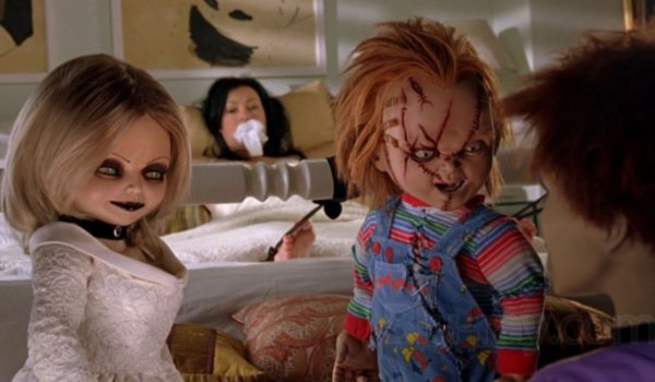 Seed Of Chucky Tiffany and Chucky talk to Glen, while holding Jennifer Tilly hostage
