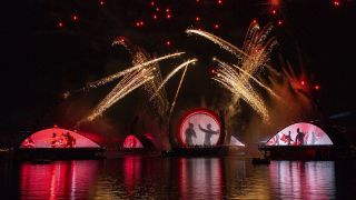 Mulan sequence of Harmonious fireworks show at Epcot