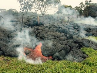 Lava flow in Pahoa