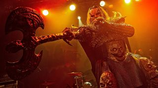 Mr Lordi of Lordi performs on stage at O2 Academy Islington on April 5, 2015
