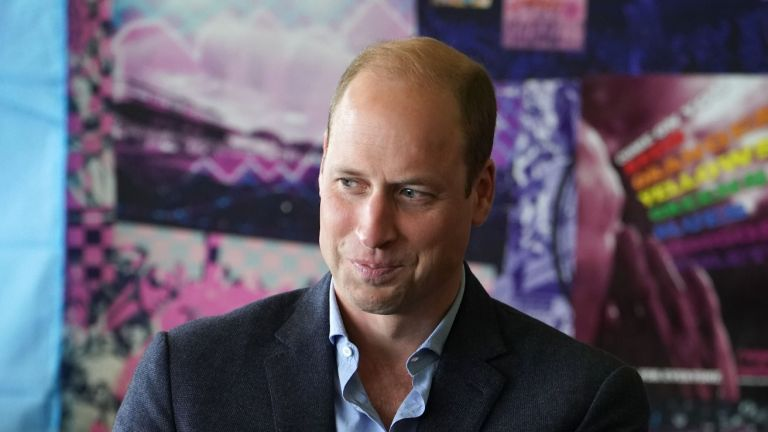 Prince William, Duke of Cambridge, President of the Football Association, during his visit to Dulwich Hamlet FC