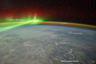 ISS aurora borealis