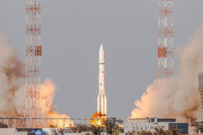 First-of-Its-Kind Satellite Servicing Spacecraft Launches on Russian Rocket
