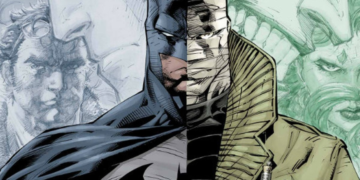 Cover art for the comic arc Batman: Hush