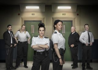 The cast of 'Screw' is led by Nina Sosanya and Jamie-Lee O'Donnell (both centre).