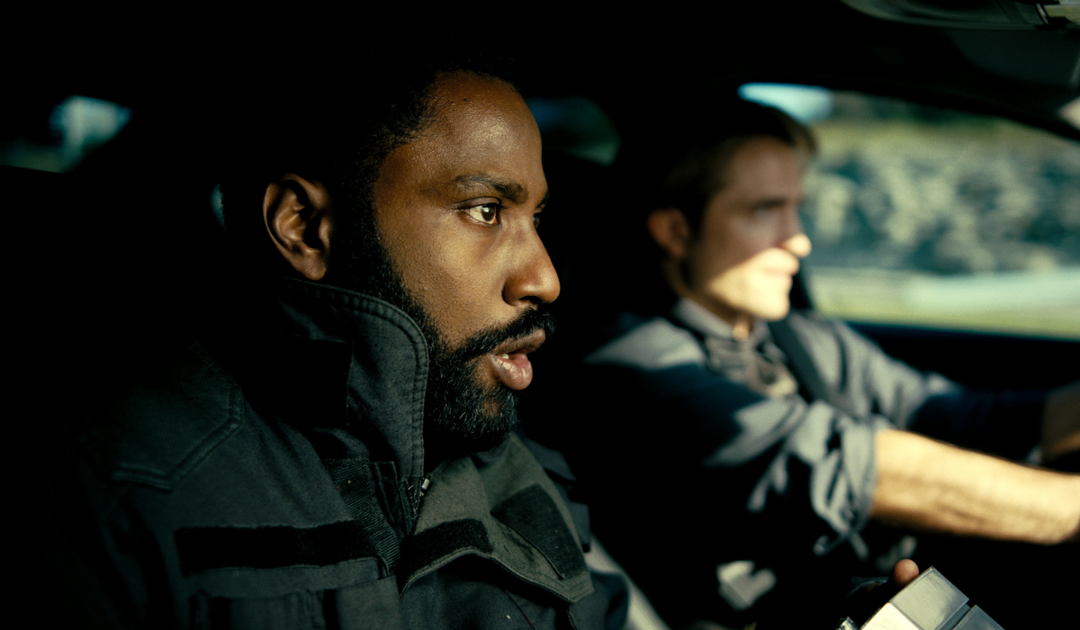 John David Washington and Robert Pattinson in Christopher Nolan's Tenet