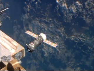 Progress 54 About to Dock at International Space Station