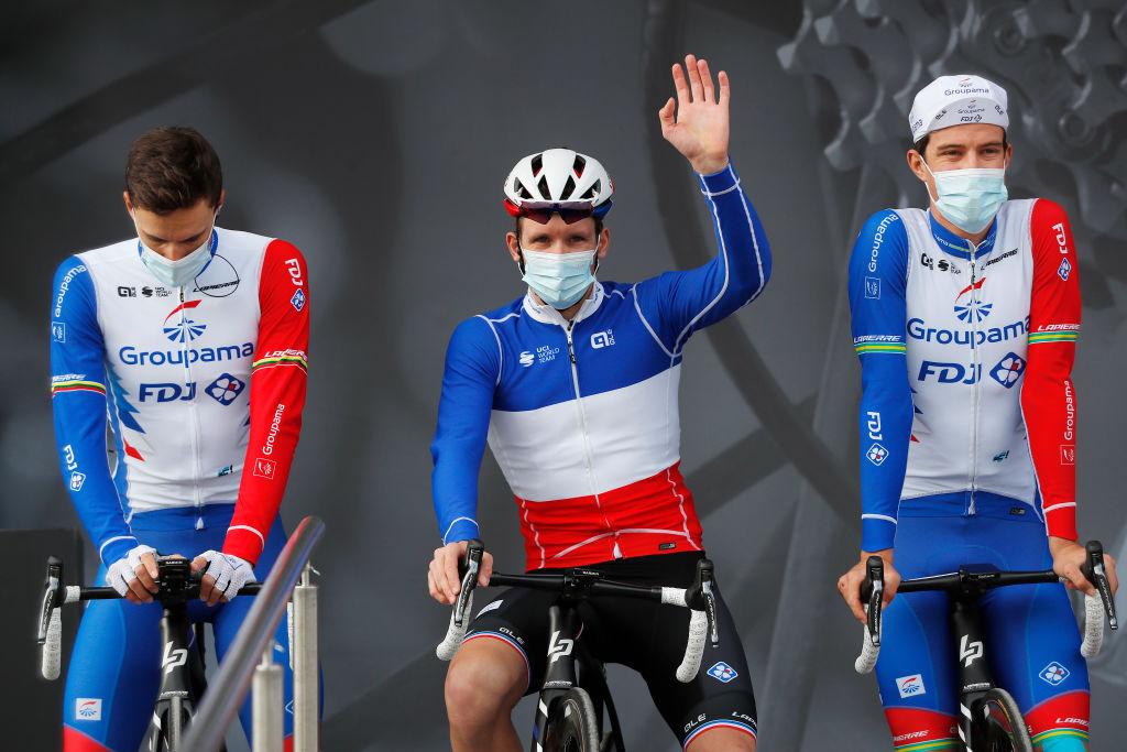 Arnaud Demare and his Groupama-FDJ teammates