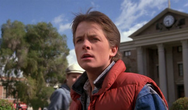 michael j. fox marty mcfly back to the future