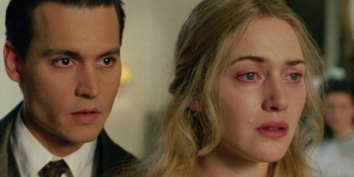 Kate Winslet alongside Johnny Depp in Finding Neverland.