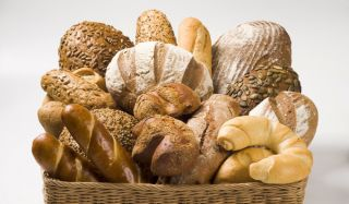bread basket, wheat, gluten