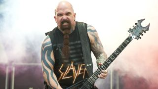 Kerry King of Slayer performs on stage during the first day of Sonisphere 2011at Knebworth House on July 8, 2011 in Stevenag