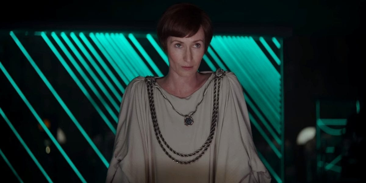 Mon Mothma, a character from Rogue One: A Star Wars Story, which will return in Andor.