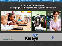 A Guide to IT Automation: Managing K-12 & Higher Ed IT Systems Effectively