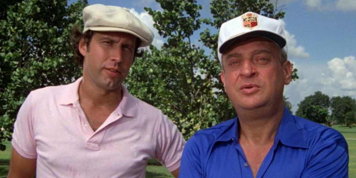 Chevy Chase and Rodney Dangerfield in Caddyshack