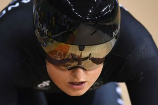 New Zealands Olivia Podmore lines up on the track before competing in the Womens sprint qualifying track cycling event at the Velodrome during the Rio 2016 Olympic Games in Rio de Janeiro on August 14 2016 AFP Eric FEFERBERG Photo credit should read ERIC FEFERBERGAFP via Getty Images