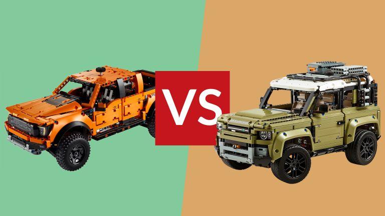 Lego Technic Ford F-150 Raptor vs Lego Technic Land Rover Defender