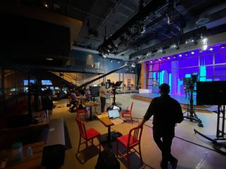 AV Chicago designed the Studio at Chop Shop to create high-quality virtual and hybrid event productions.