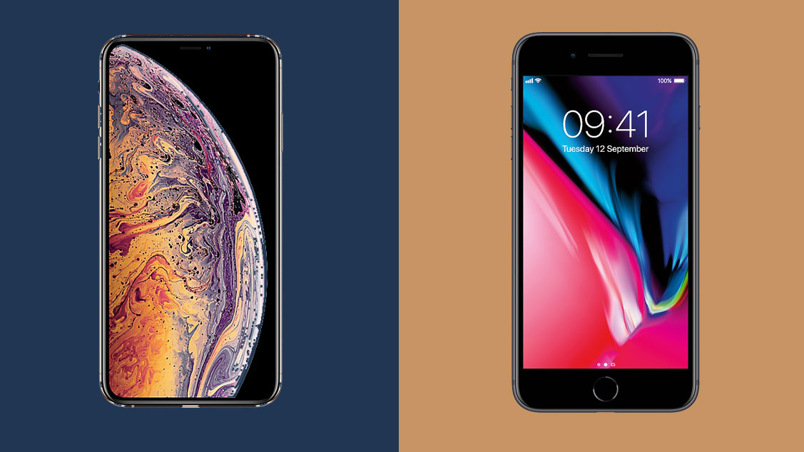 reputable site 28962 f5752 iPhone XS Max vs iPhone 8 Plus: battle of the big phones | TechRadar