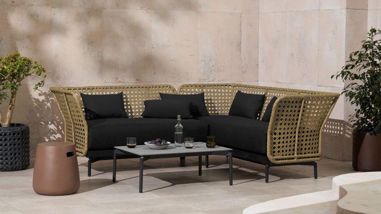 Made sale: Balawa Garden Corner Sofa Set outside