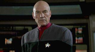 Sir Patrick Stewart as Jean-Luc Picard.