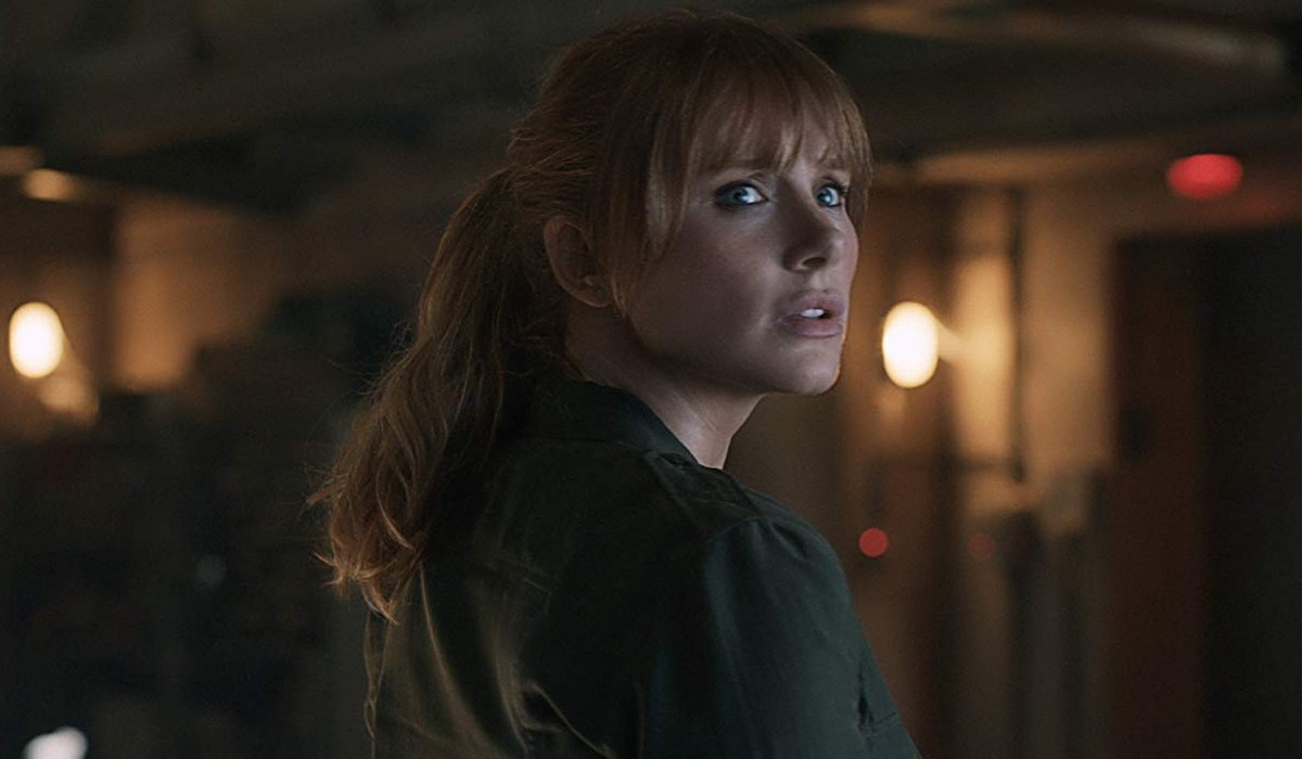 Jurassic World: Fallen Kingdom Claire Dearing turns to look at potential danger