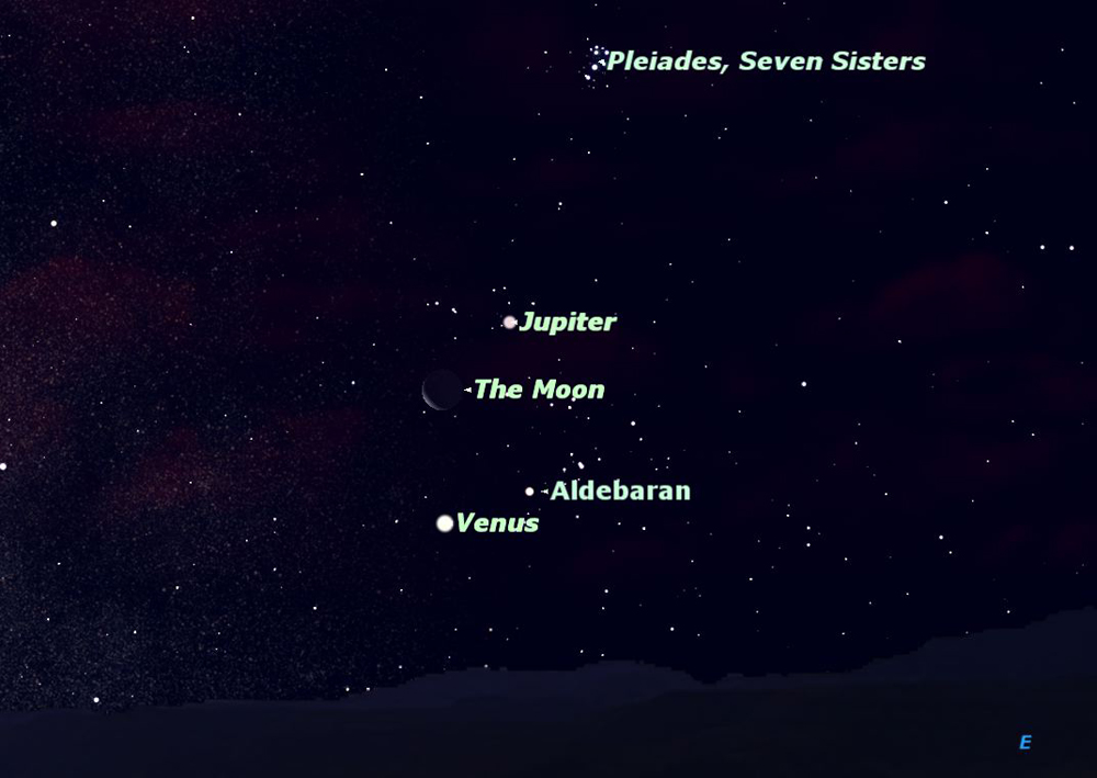 Closest Stars To Earth Map.See Moon Venus Jupiter And Bright Star Together Space
