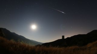 Perseid meteor shower fireball