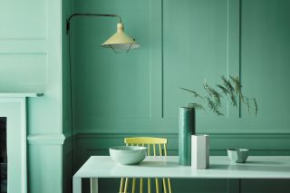 eco paint from little greene in a green dining room
