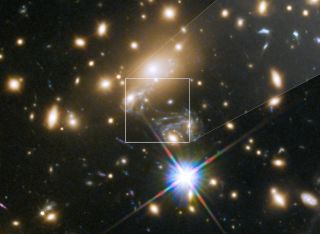 Icarus, which is located 9 billion light-years away, was visible only because of a technique called gravitational lensing.