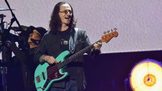 Geddy Lee of Rush performs live