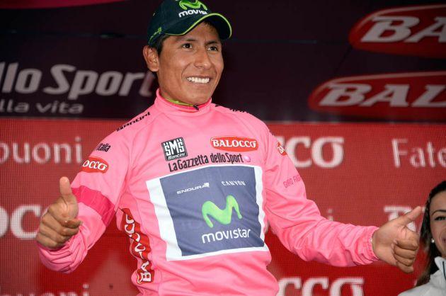Nairo Quintana on stage eighteen of the 2014 Giro d'Italia