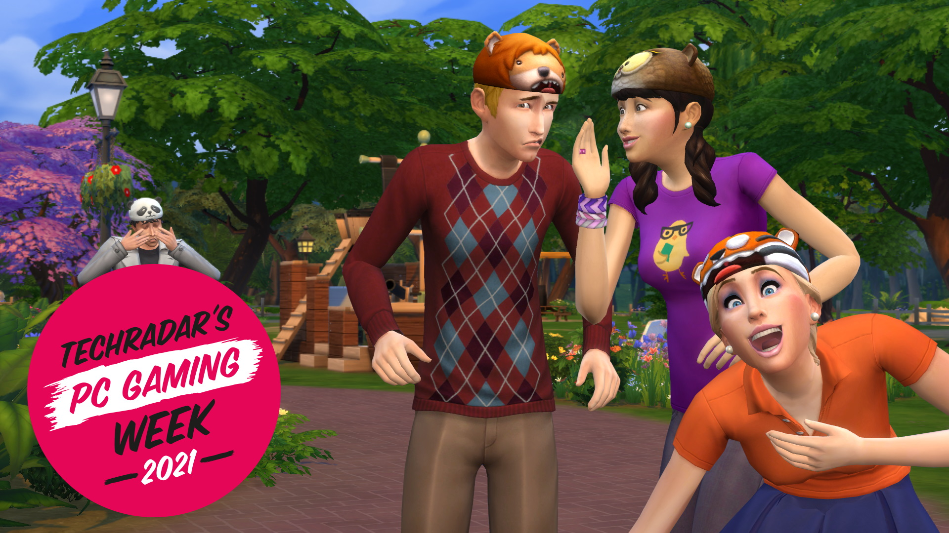 Screenshot of The Sims 4 with PC Gaming Week branding