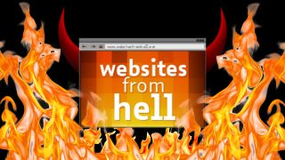 The Websites From Hell logo surrounded by flames