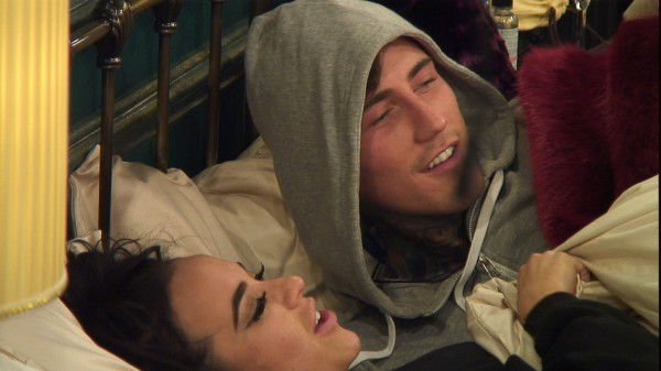 Jeremy and Stephanie cosy up in the CBB house