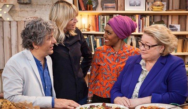 Giorgio Locatelli Zoe Ball Nadiya Hussain Rosemary Shrager The Big Family Cooking Showdown Netflix