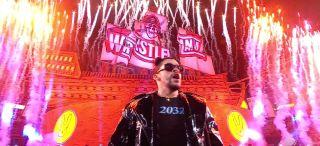 Bad Bunny at wwe WrestleMania 37