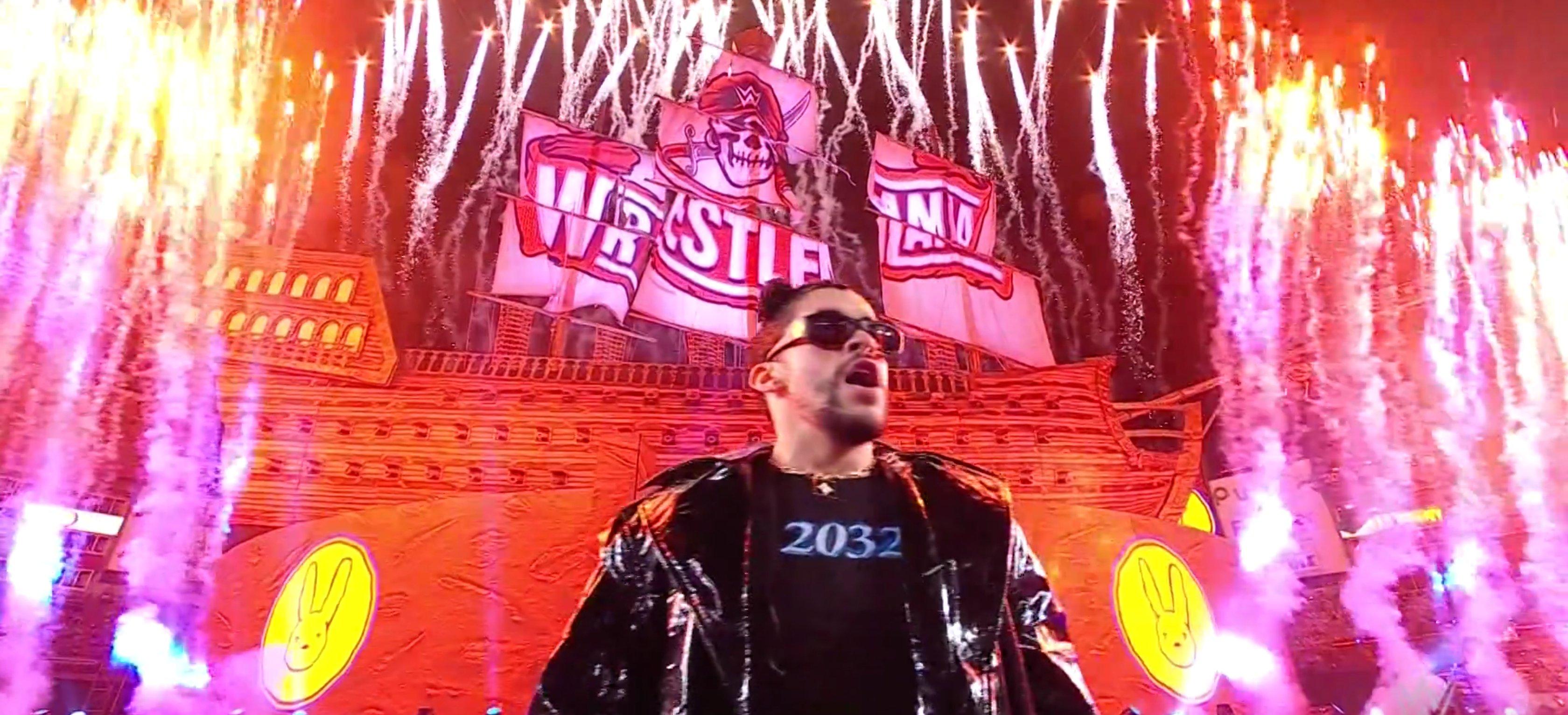 Bad Bunny at WrestleMania 37