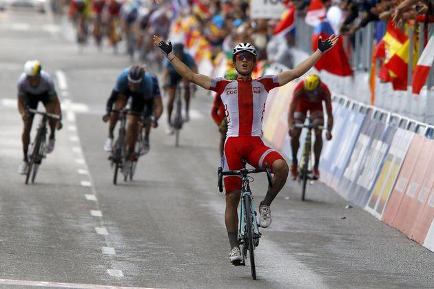 Michael Kwiatkowski wins the men's road race at the 2014 World Road Championships