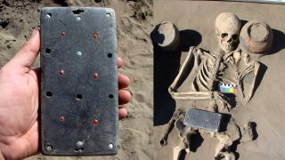 "A 2,100-year-old ""iPhone"" accompanied a woman into the afterlife, in a necropolis in what is now Siberia."