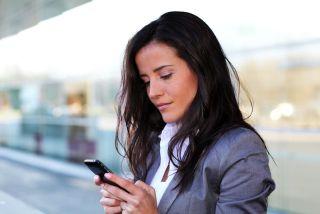 a women using a smartphone