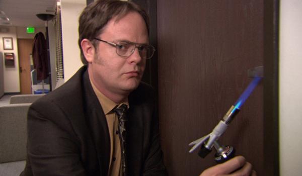The Office Rainn Wilson with toy