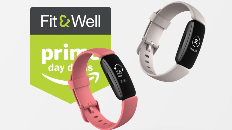 Two Fitbit Inspire 2 models in pink and white