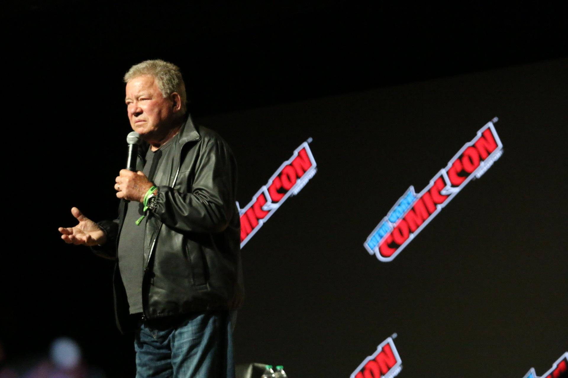 William Shatner takes the stage at New York Comic Con on Oct. 7, 2021.