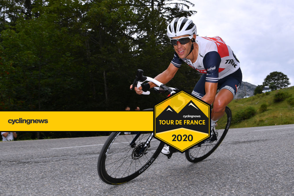 Trek-Segafredo's Richie Porte descends during stage 5 of the 2020 Critérium du Dauphiné