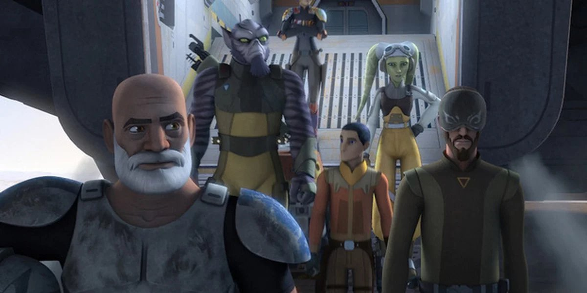 A scene from the animated Star Wars Rebels