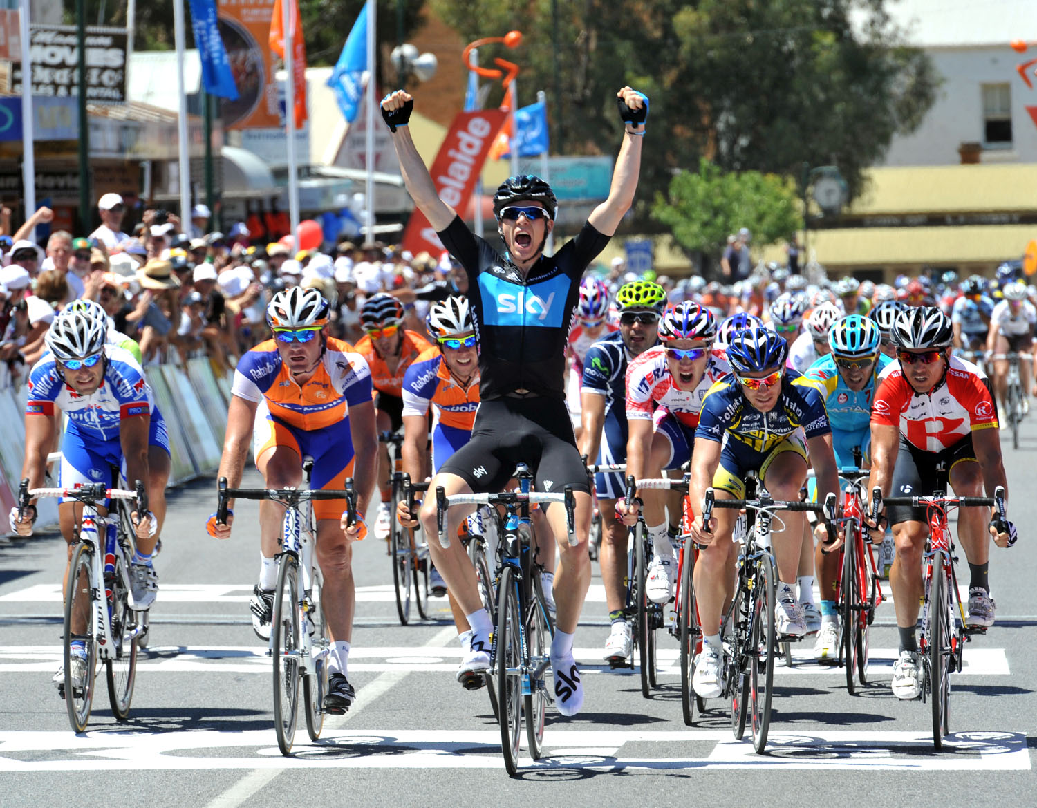 Ben Swift wins, Tour Down Under 2011, stage two